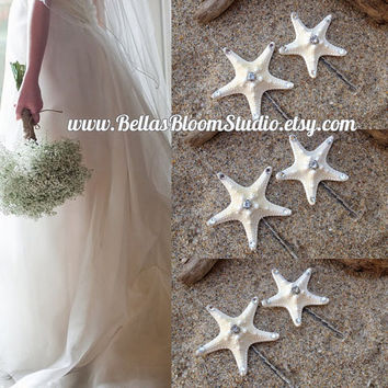 Beach wedding Starfish Hair Clip Starfish bobby Pins, Beach Wedding , Starfish headpiece, Starfish Hair Pins,Beach wedding decor etsy