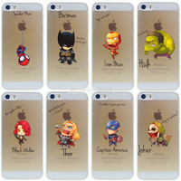2016 New Arrival Cool Marvel's Case The Avengers Heros Cover For iPhone 5 5S