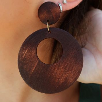 Take All The Time Earrings: Espresso