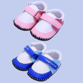 Baby's Toddler PU Leather Soft-soled Shoes Sneakers Prewalkers Crib Shoes