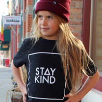 YOUTH STAY KIND TEE - BLACK