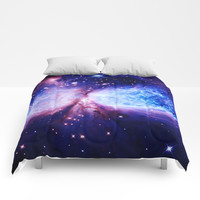 Galaxy : A Star is Born Blue Purple Comforters by 2sweet4words Designs
