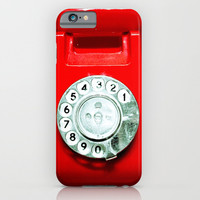 OLD PHONE - RED EDITION - for iphone iPhone & iPod Case by Simone Morana Cyla
