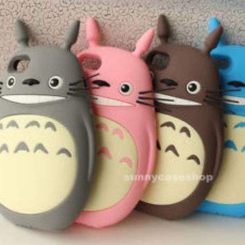 3D Cute My Neighbor Totoro Soft Silicone Case cover for Apple iphone 6S plus 5s