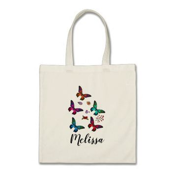 Elegant Colorful Butterflies Custom Tote Bag