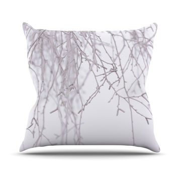 "Monika Strigel ""Frozen"" White Throw Pillow"