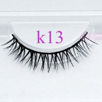 3pcs/lot human hair Siberian Mink Fur Eyelash