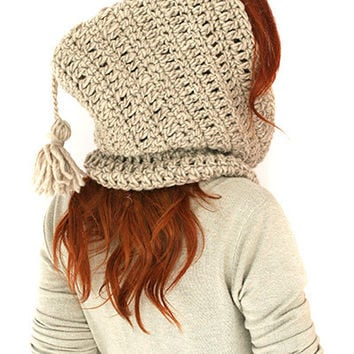 Crochet hood, Hooded cowl, Crochet hood cowl, Hooded cowl scarf, Scoodie Hooded Cowl, Hooded neckwarmer