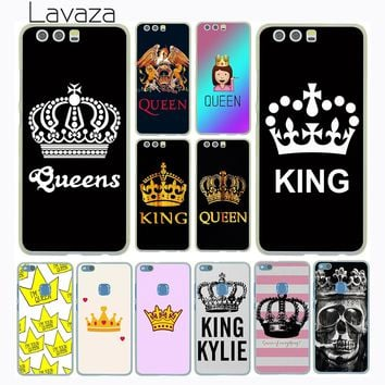 Lavaza Princess Queen King Pair Best Friends Emoji Case for Huawei P20 Pro P10 P9 Plus P8 Mate 10 Lite Mini 2017 2016 P smart