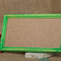 Vintage handmade wooden frame for photos and pictures interior unusual decor