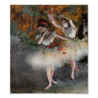 Degas, Two Dancers Entering the Stage Poster