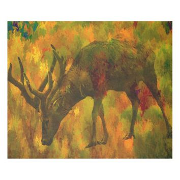 Camouflage Deer fleece blanket
