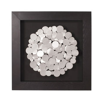 Chrome Sunburst Framed Wall Art