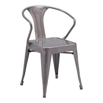 Helix Dining Chair Gunmetal - Set of 2