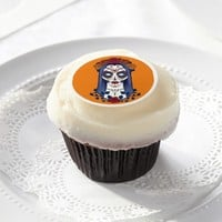 Day of the Dead, Sugar Skull Bride Edible Frosting Rounds