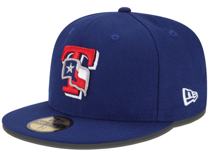 Texas Rangers Mlb Logo Lush 59fifty Cap From Lids