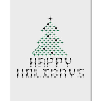 "Happy Holidays Sparkles Aluminum 8 x 12"" Sign"