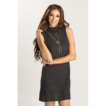 Eliza Grey Sleeveless Knit Tunic