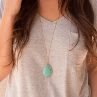 Gem Setter Necklace - Turquoise