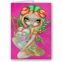 """Rainbow Sherbet Fairy"" Greeting Card from Zazzle.com"