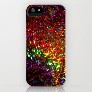 Fascination in gold-photograph of colorful lights iPhone Case by Sylvia Cook Photography | Society6