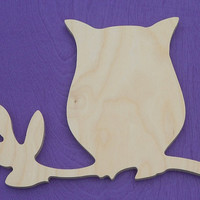 "9"" Unpainted Wooden Cut Out Shapes Wall Hanging Room Decor Kids Crafts"