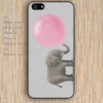 iPhone 5s 6 case watercolor  elephant blowing balloons colorful phone case iphone case,ipod case,samsung galaxy case available plastic rubber case waterproof B541