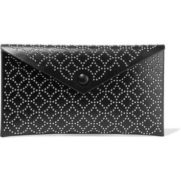 Alaïa - Envelope embellished leather clutch