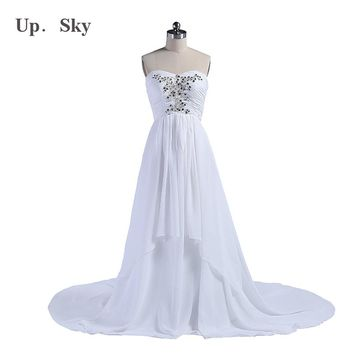 The new package mail 2015 sexy special wedding dress marriage gauze of marriage pulling end chiffon beach wedding