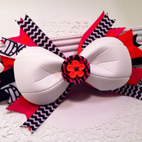 """Custom Volleyball bow with 7"""" spikes."""