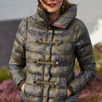 Convertible Puffer Jacket by Pilcro Green Motif
