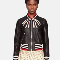 GUCCI Autumn Winter Fashion Women Casual Bowknot Zipper Cardigan Sweater Jacket Coat