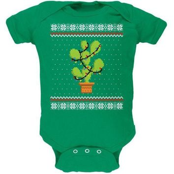 ICIK8UT Cactus Prickly Pear Tree Ugly Christmas Sweater Soft Baby One Piece