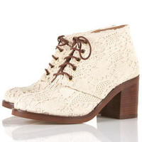 ARTIST Crochet Ankle Boots - Boots  - Shoes