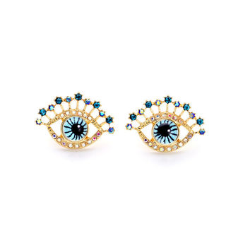 Babe Eye Stud Earrings