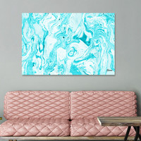 «Ocean Blue Marble», Numbered Edition Canvas Print by Uma Gokhale - From $49 - Curioos