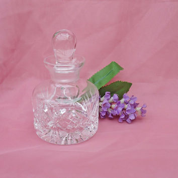 Vintage Crystal Perfume Bottle, Crystal Decanter, Perfume Veil, UK Seller