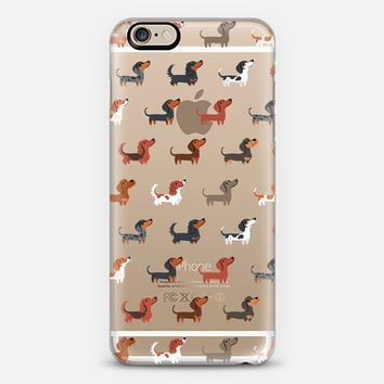 DACHSHUNDS (Clear) iPhone 6 case by Lili Chin | Casetify