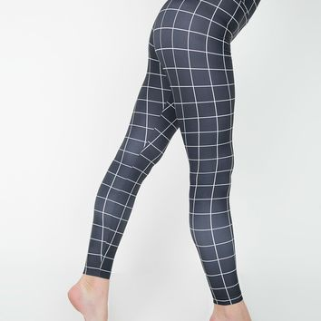 rnt349p - Print Nylon Tricot High-Waist Leggings
