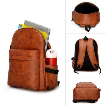 IN INDIA Leather Finish PU Regular Use Heavy Duty 21 LTS Backpack- Fits 15.6 Laptop Easily