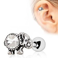 316L Surgical Steel Elephant Cartilage Earring