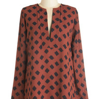 ModCloth Safari Long Long Sleeve Mesquite On Keepin' On Top