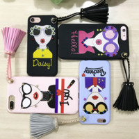 New Fashion painting fashion woman Plastic Case Cover for Apple iPhone7 7plus 6 Plus 6 -05005
