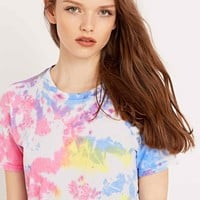 Urban Renewal Vintage Customised Bright Tie-Dye Tee - Urban Outfitters
