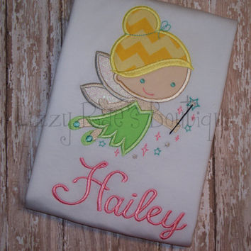 Tinkerbell applique shirt- Princess applique shirt- Cutie applique shirt- Pixie