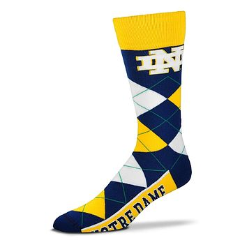 Notre Dame Fighting Irish Logo Mens Argyle Socks