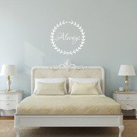 Always in Laurel Wreath Vinyl Wall Decal 22491