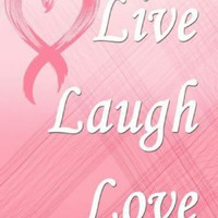 Live Laugh Love Pink Ribbon Metal Parking Sign