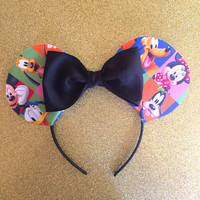 Disney Minnie ears all characters donald mickey pluto minnie goofy daisy duck disneyland ears