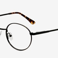 Santa Fe | Black/Brown Metal Eyeglasses | EyeBuyDirect